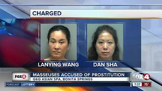 Masseuses accused of prostitution - Video