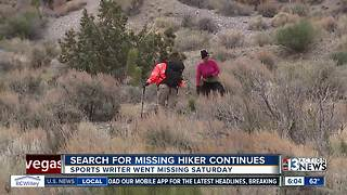 Search continues for sports writer missing on Mt. Charleston - Video