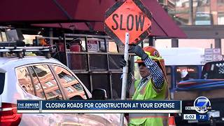 Denver's construction boom impacting traffic, lanes closed during rush hour - Video