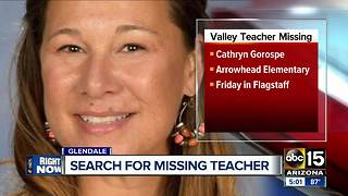 Search is on for a missing Valley teacher - Video