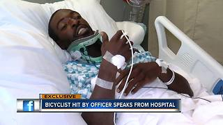 Two Tampa Police officers, bicyclist injured after cruiser veers off road, crashes into tree - Video