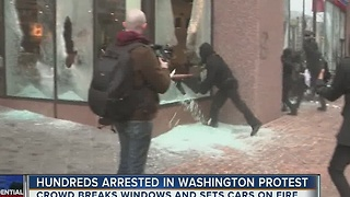 Hundreds arrested in Washington protest - Video
