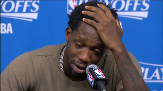 Patrick Beverley BREAKS DOWN Over Grandfather During and After Game 4 vs Spurs - Video