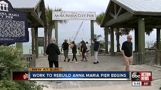 Construction begins on new Anna Maria Pier after Hurricane Irma damage
