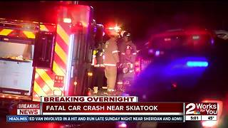 Two people dead after car accident in Skiatook - Video