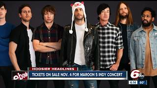 Maroon 5 coming to Bankers Life Fieldhouse in 2018 - Video