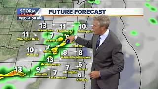 Mostly cloudy, few spotty showers Tuesday night - Video