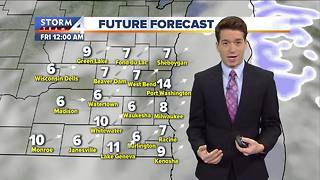 Heavy snow leaves, cold kicks in - Video