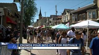 It's a busy festival weekend in Milwaukee - Video