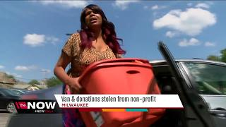 Van and donations stolen from non-profit