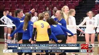 CSUB volleyball swept by #3 Stanford out of NCAA Tournament - Video