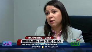 Arizona Justice for Our Neighbors clinic opening in Tucson - Video