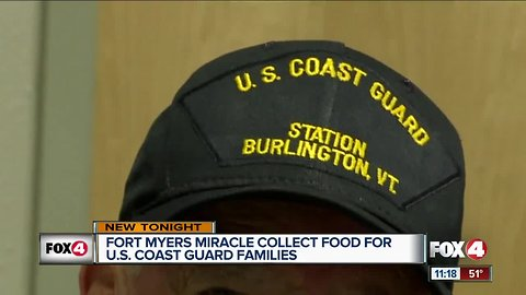Fort Myers Miracle collect food for U.S. Coast Guard