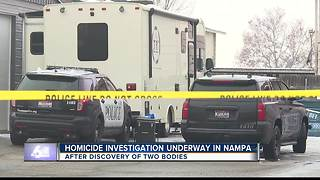 Homicide investigation underway after two dead bodies found in Nampa apartment - Video