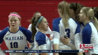Nebraska State Volleyball: Omaha Marian downs Papillion-La Vista