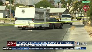 Woman dies after being ran over by trailer - Video