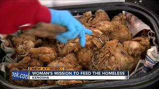 Kenosha woman feeds the homeless with her own money - Video