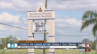 Coach on leave after deadly crash