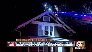 Firefighters face extra challenges in extreme cold - Video