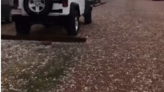 Hail Covers Colorado Springs Roads - Video