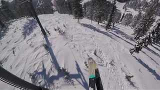 Insane Footage of Skier's Sweet Jump and Landing - Video