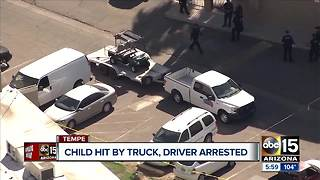 3-year-old struck by truck, driver suspected of DUI