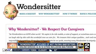 Online babysitter service accused of not paying sitters - Video