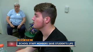School staff saves life of Wesley Chapel 16-year-old who suffered cardiac arrest during gym class - Video