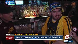 Pacers fans get fired up ahead of Game 4 against the Cavs - Video