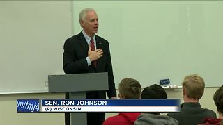 Sen. Ron Johnson visits Wauwatosa West students - Video
