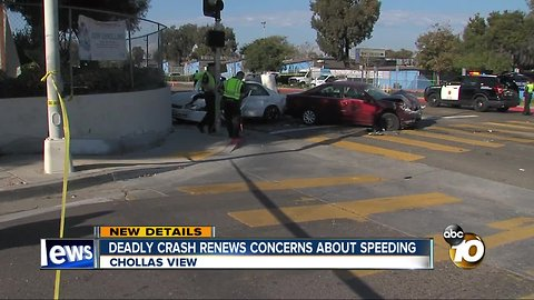 Crash at Chollas View intersection renews concerns over speeding