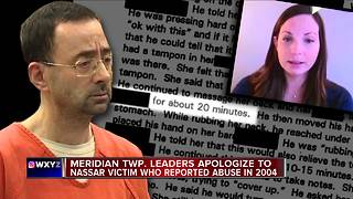 Meridian Township Police apologize to victim for being deceived by Nassar - Video