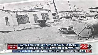 Forty year anniversary of Bakersfield dust storm - Video