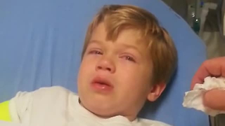 Kid Wakes Up From Surgery, Hilariously Describes His Experience - Video