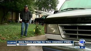 Denver man racks up toll lane fines after his license plate was stolen - Video
