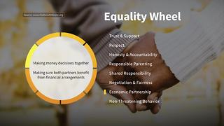Economic Partnership on the Wheel of Equality | Taking Action Against Domestic Violence