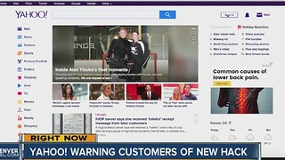 Yahoo! warning customers of new hack