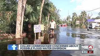 Collier Commissioner concerned about possible flood water diversion - Video
