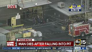 Man dies after falling into pit in west Phoenix - Video