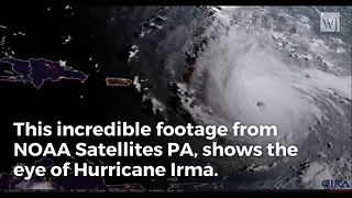 Breathtaking Images Put Irma's Size Into Perspective - Video