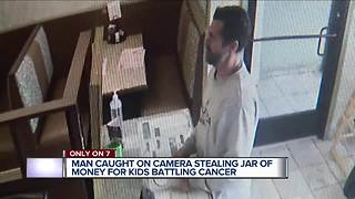 Man stealing money meant for metro Detroit cancer patients caught on tape - Video