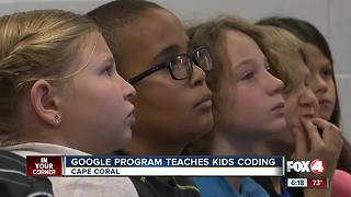 Google teaches Cape Coral kids to code - Video