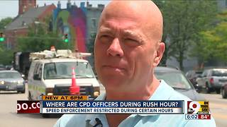 Where are Cincinnati police officer during rush hour? - Video