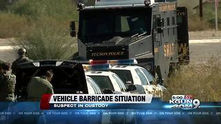 Suspect in custody following barricade situation - Video