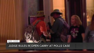 Judge rules in open carry at the polls