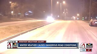Winter weather causes dangerous road conditions