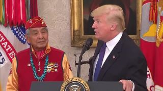 Trump Pocahontas insult - Video