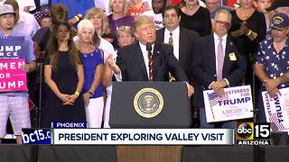 President Trump considering Phoenix visit in September