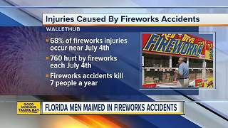 Florida men maimed in fireworks accidents - Video
