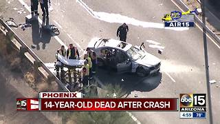14-year-old dead after crash in north Phoenix - Video